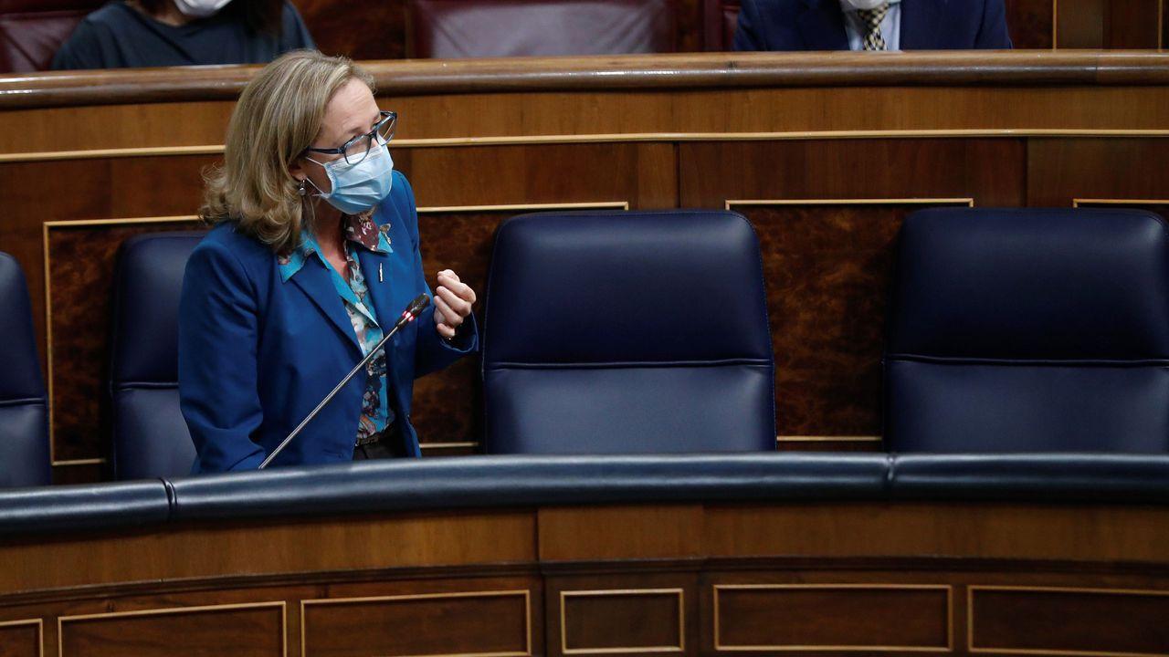 Pedro Sánchez, este jueves durante el debate de la moción de censura de Vox