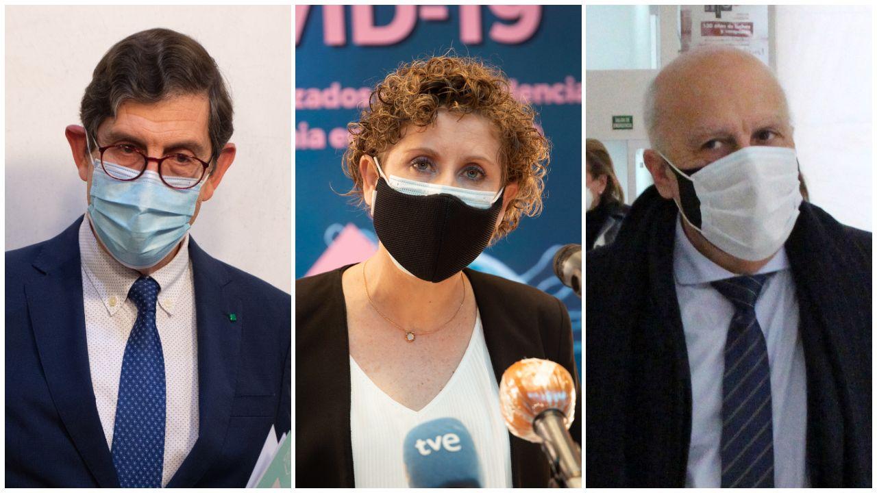 De izquierda a derecha, el ya exconsejero de Sanidad de Murcia, Manuel Villegas; la alcaldesa de Molina del Segura, Esther Clavero; y el consejero de Sanidad de Ceuta, Javier Guerrero.