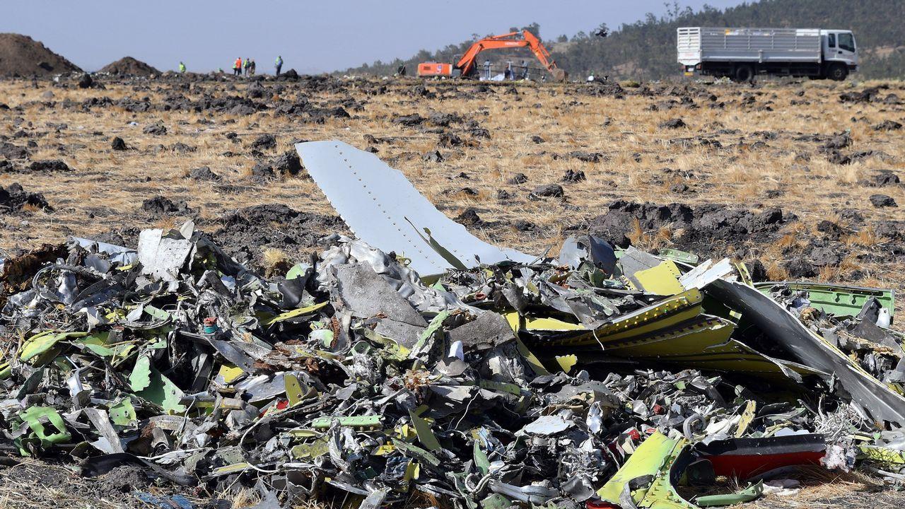 Ya estan en España 15 de los inmigrantes rescatados por el «Open Arms».Imagen de un Boeing 737 Max