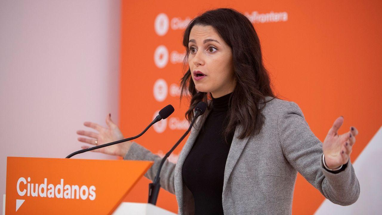 Ciudadanos oviedo.Inés Arrimadas es la única aspirante, de momento, a liderar Cs tras la renuncia de Rivera