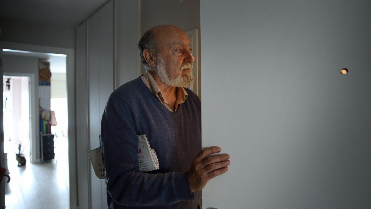 Cuarenta personas buscan en Eirís al hombre desaparecido hace cinco meses.Búsqueda desaparecido en Eirís