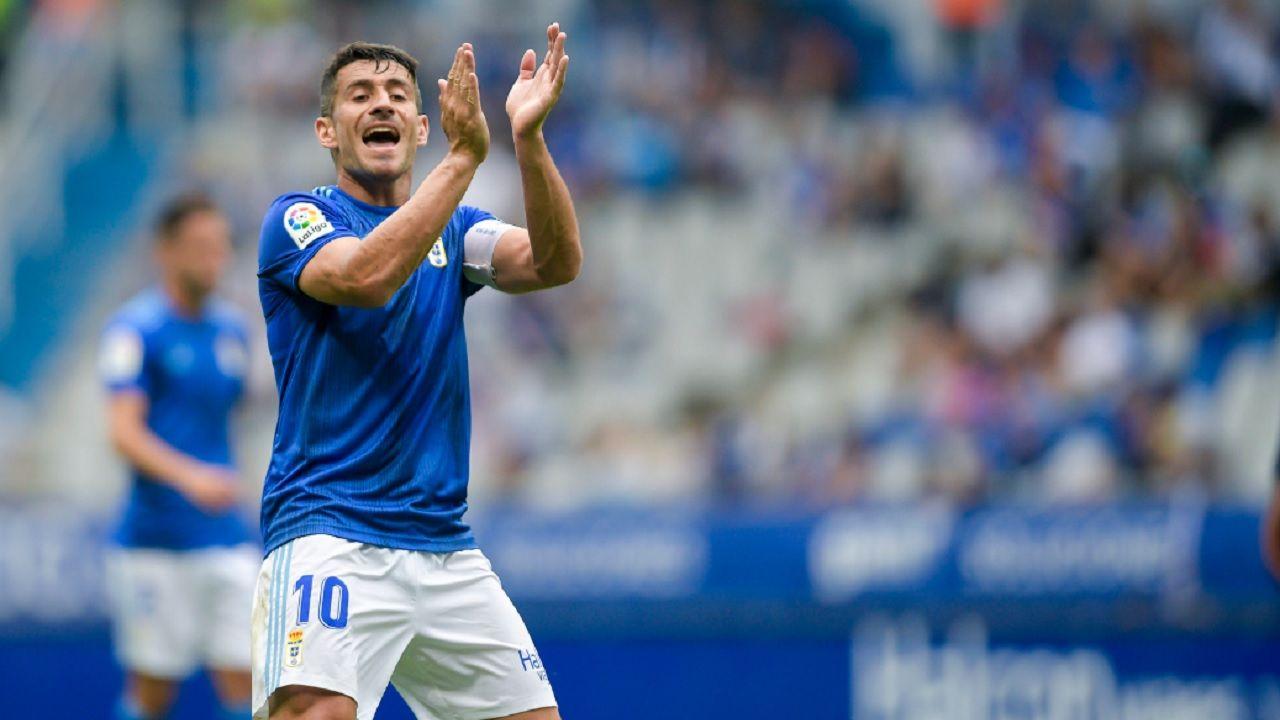 Saúl Berjón, durante el partido frente al Lugo