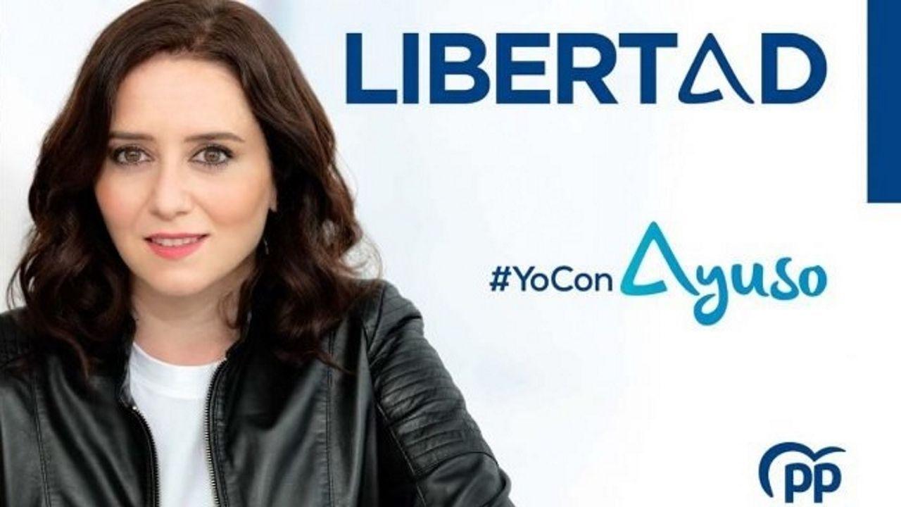 Isabel Díaz Ayuso, este miércoles, en la sede de la Comunidad de Madrid