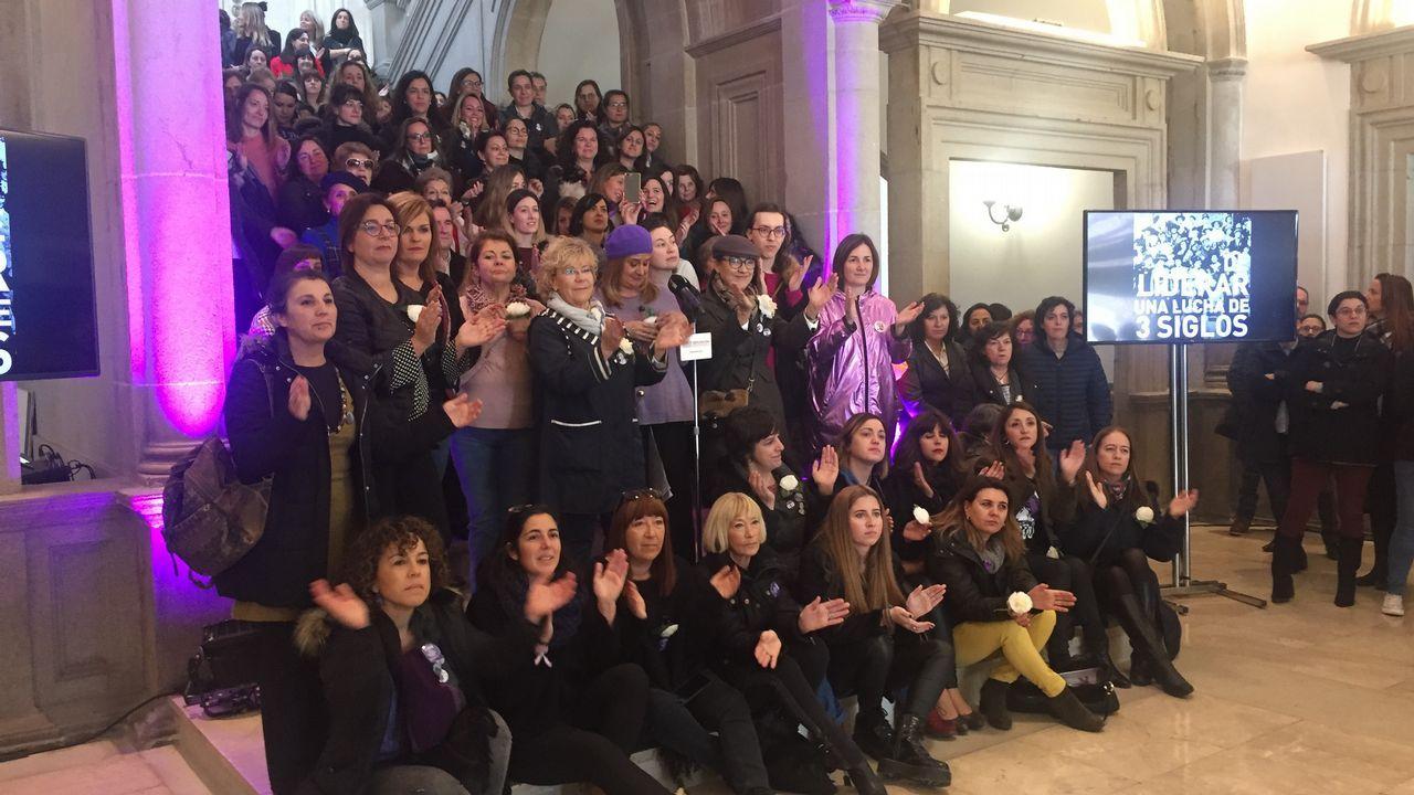 Multitudinarias movilizaciones del 8M en Galicia.Concentración del 8M. Día de la Mujer