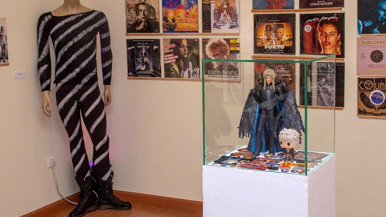 Imagen de la exposición sobre David Bowie en Avilés