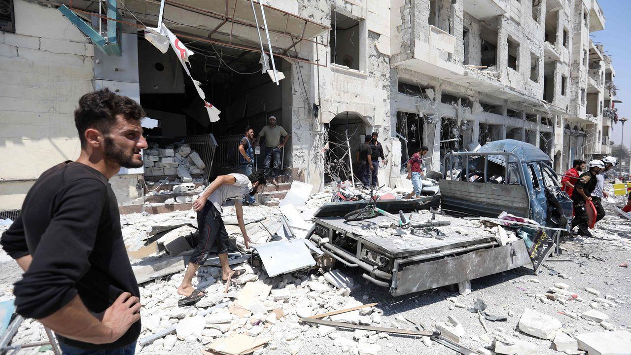 Los vecinos de la destruida Idlib se preparan ya para el asalto de las tropas de Bachar al Asad, apoyadas por rusos e iraníes