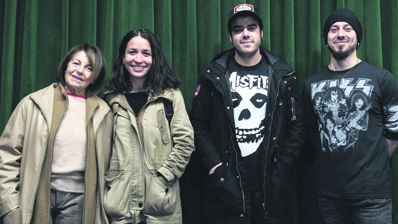 Los grupos del búnker rock de Oviedo.Lucas Alcaraz