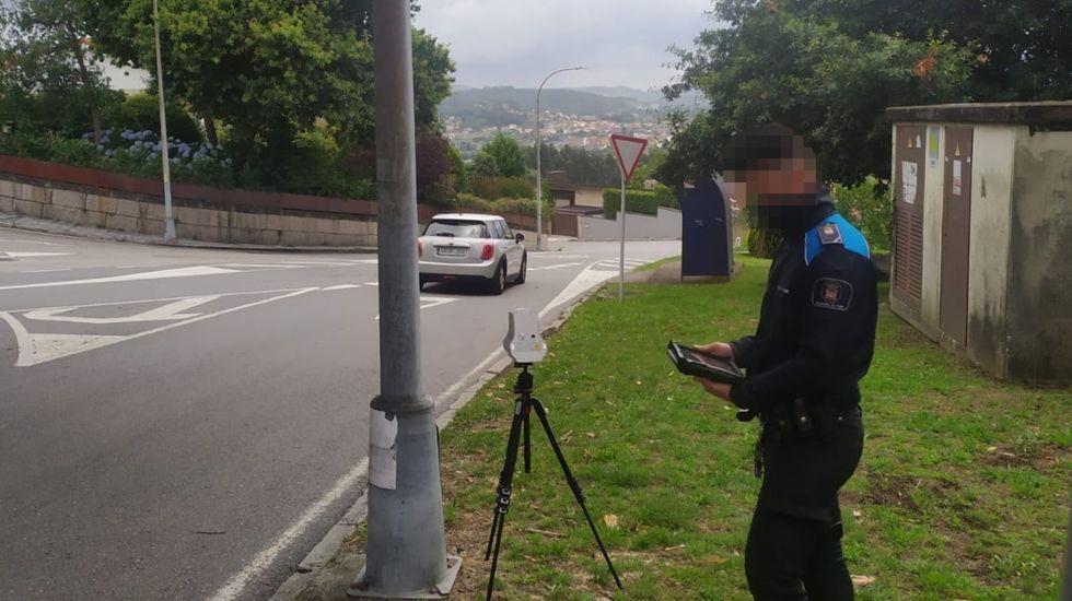 Control de velocidad por radar en Poio