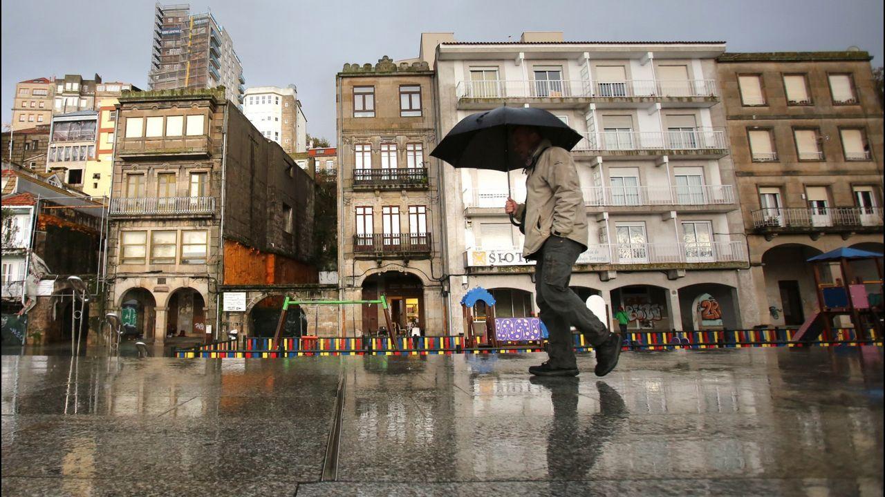 Edificios en Ribeira do Berbés que rehabilitará el Consorcio Casco Vello