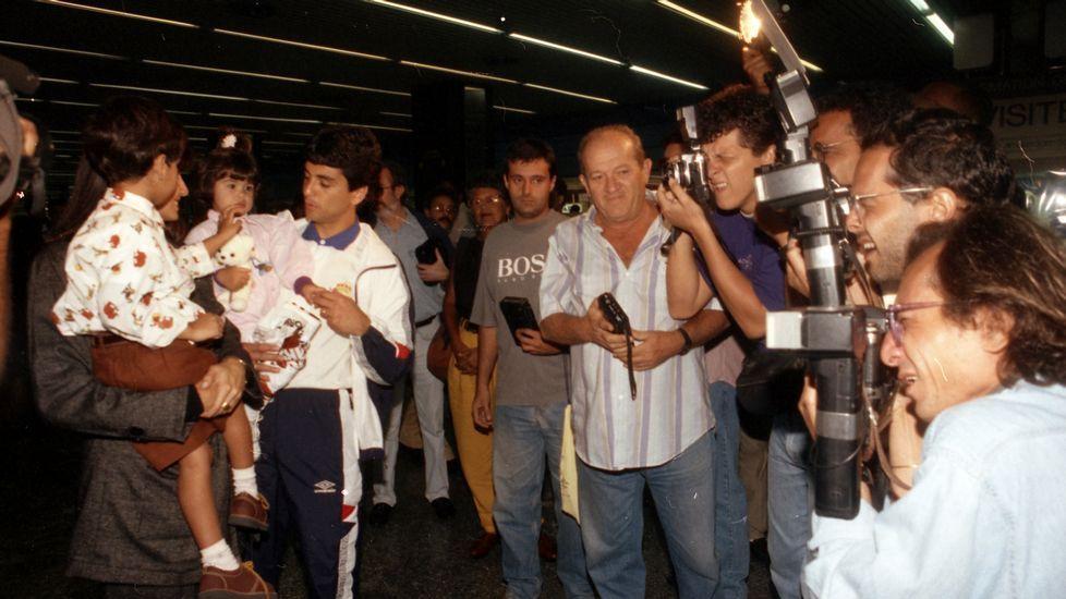 Bebeto y su mujer, a la llegada a Río.