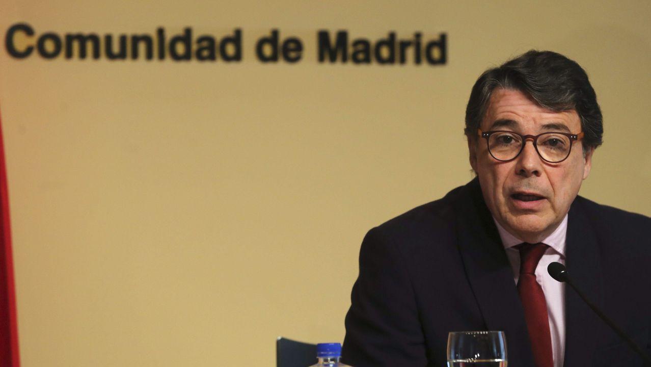 Rueda de prensa de Fernando Vidal.Ignacio González cuando todavía era presidente de la Comunidad de Madrid en el 2015