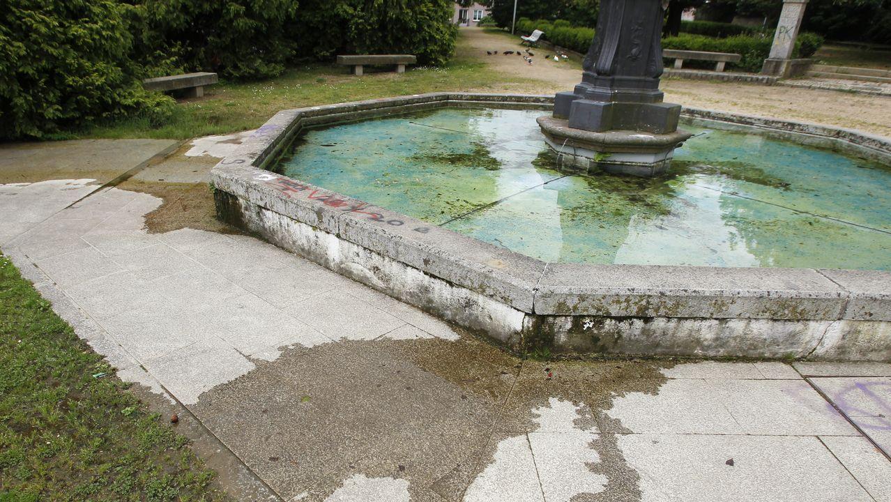 Las fugas de agua son otro problema del parque; las hay en el estanque de la fuente Wallace y en una zona próxima a la pista de baile central del Reina Sofía