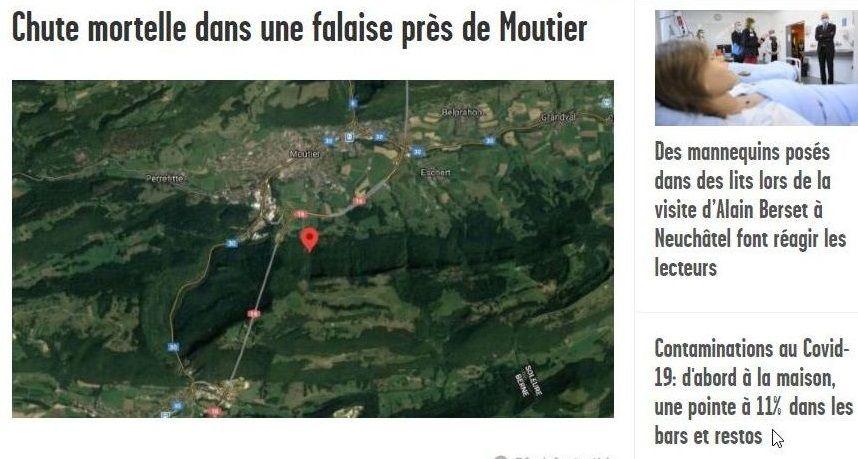 Información del periódico Arcinfo sobre la zona del accidente