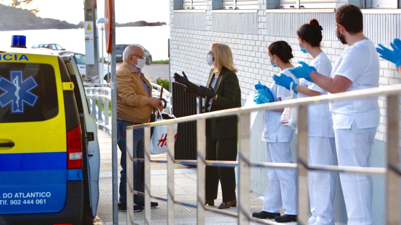 Traslado de ancianos de Barreiro a Patos.Test rápido para detectar el coronavirus