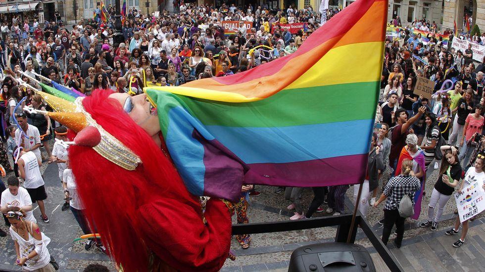Gascona, sidra, sidrerías,.Un momento de la marcha del Orgullo en Gijón. El colectivo de lesbianas, gais, bisexuales y transexuales de Asturias, Xega cumple 25 años defendiendo sus derechos