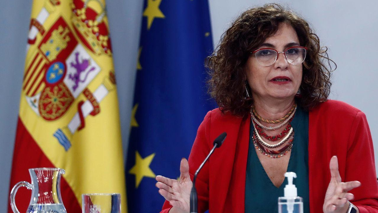 La portavoz del Gobierno, María Jesús Montero, en la rueda de prensa tras el Consejo de Ministros