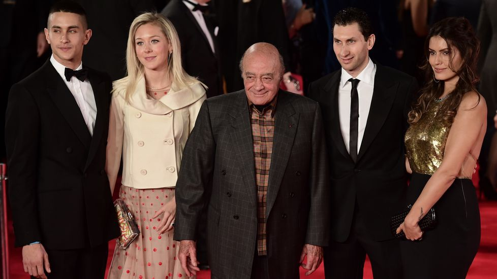Mohamed Al-Fayed a su llegada al Royal Albert Hall