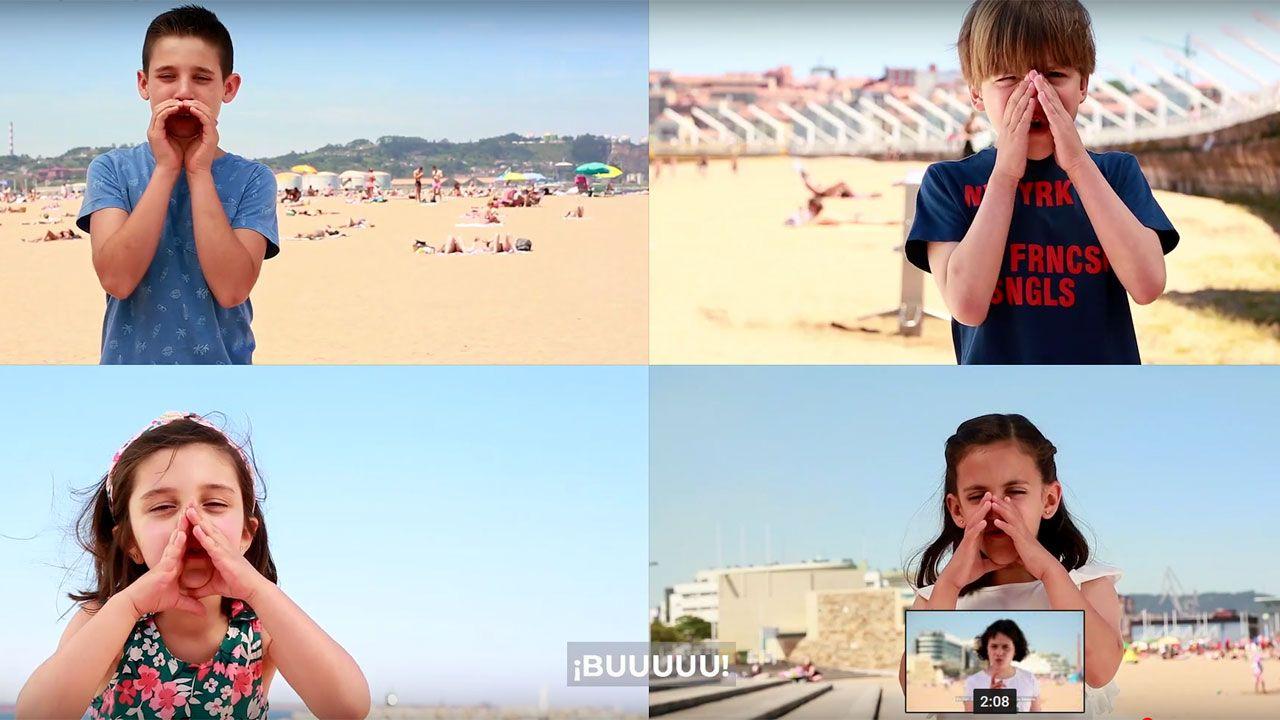 El vídeo en el que los niños y niñas de Gijón dan la cara por un verano limpio