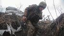 Un soldado ucraniano, en las proximidades de la ciudad de Donetsk