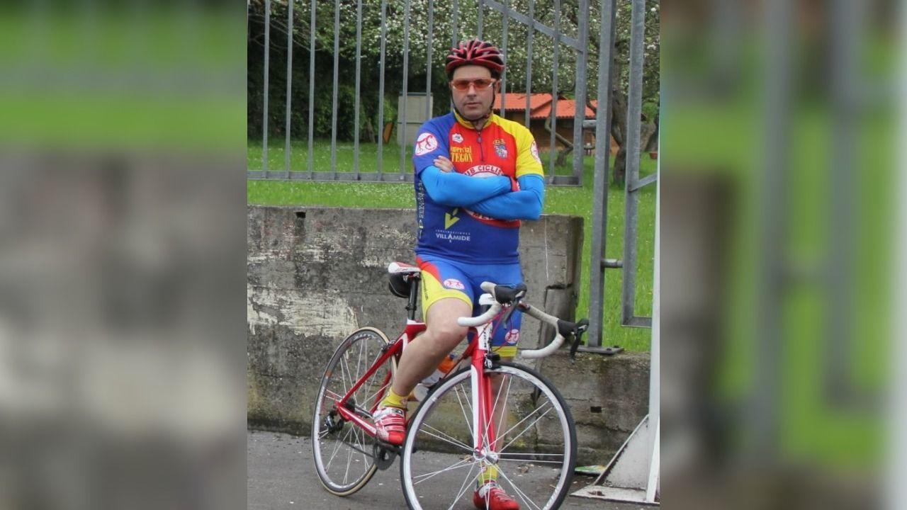 Daniel Salgado, ciclista fallecido en A Pastoriza, natural de Meira