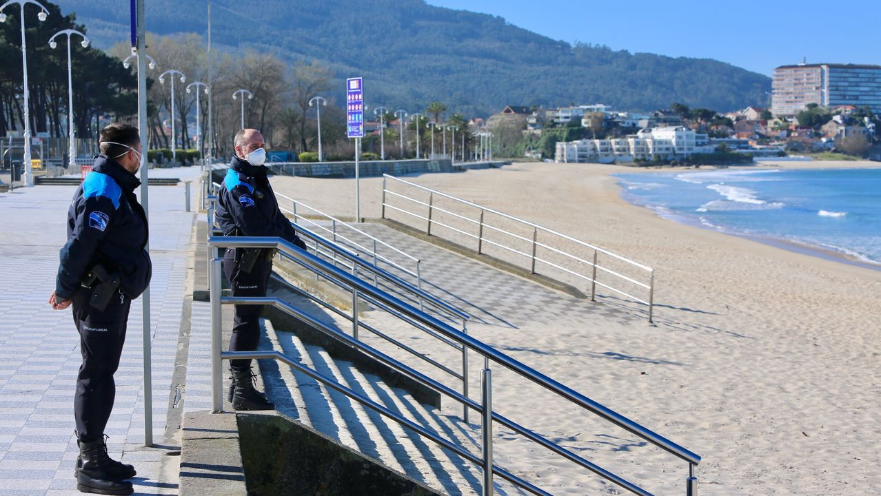 La UME, desplegada en Vigo por el coronavirus.Imagen de archivo de los juzgados de Vigo