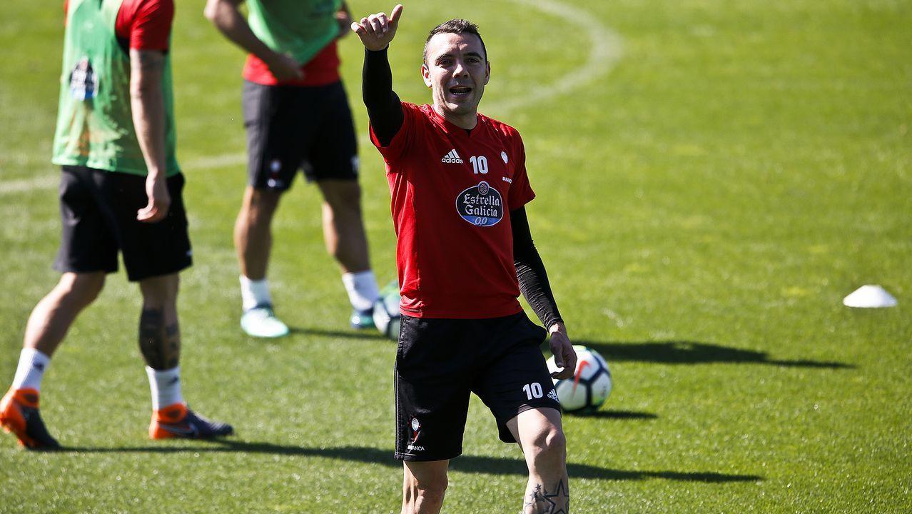 Iago Aspas y Lucas Vázquez, dos gallegos en el Mundial.Julen Lopetegui