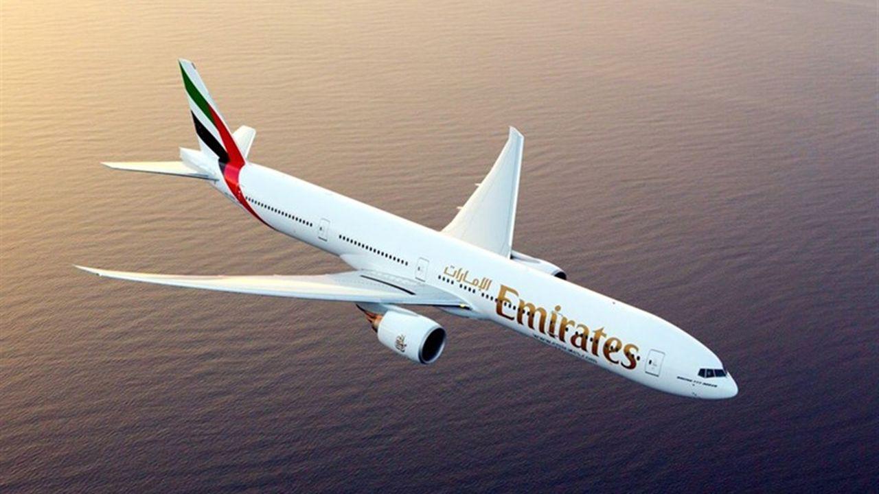 Un avión de la compañía Emirates