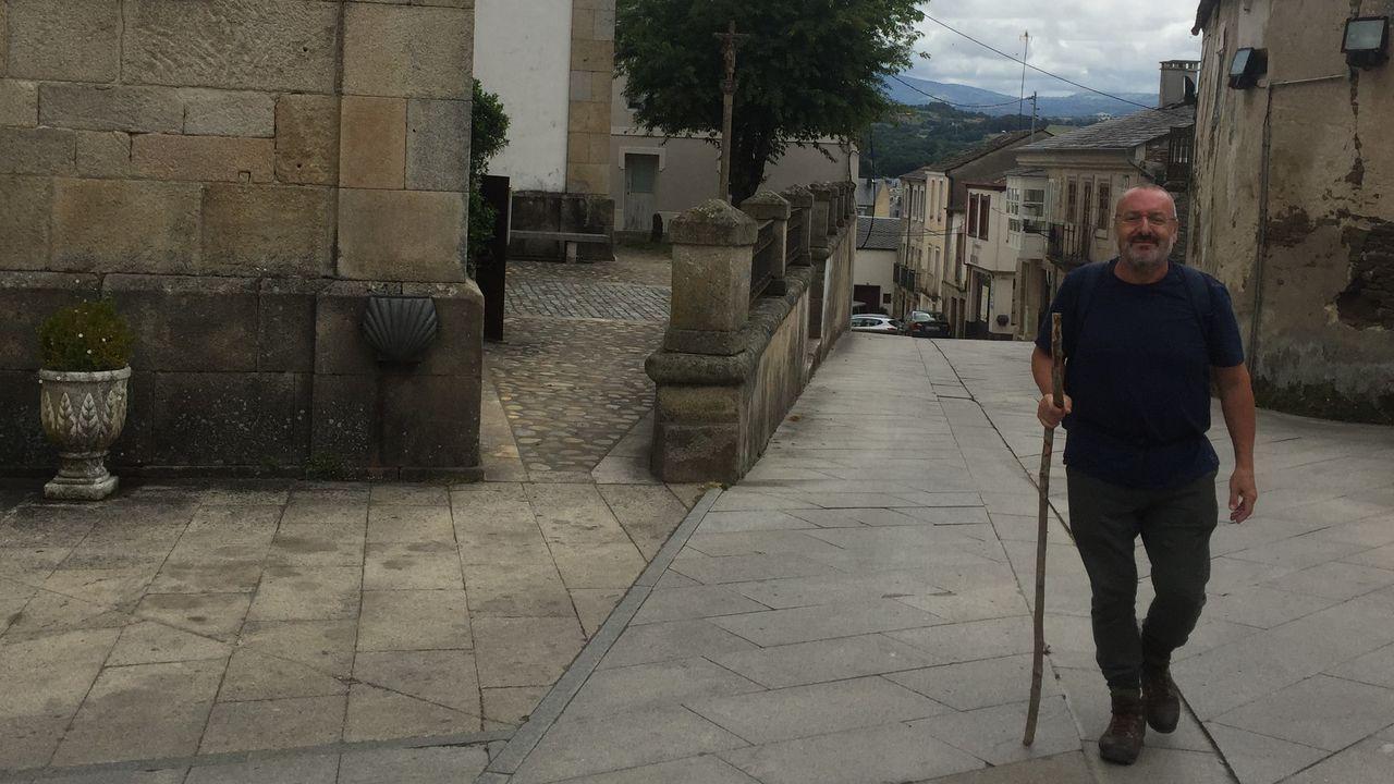 Un peregrino de Sevilla, que comenzó la ruta en Ponferrada