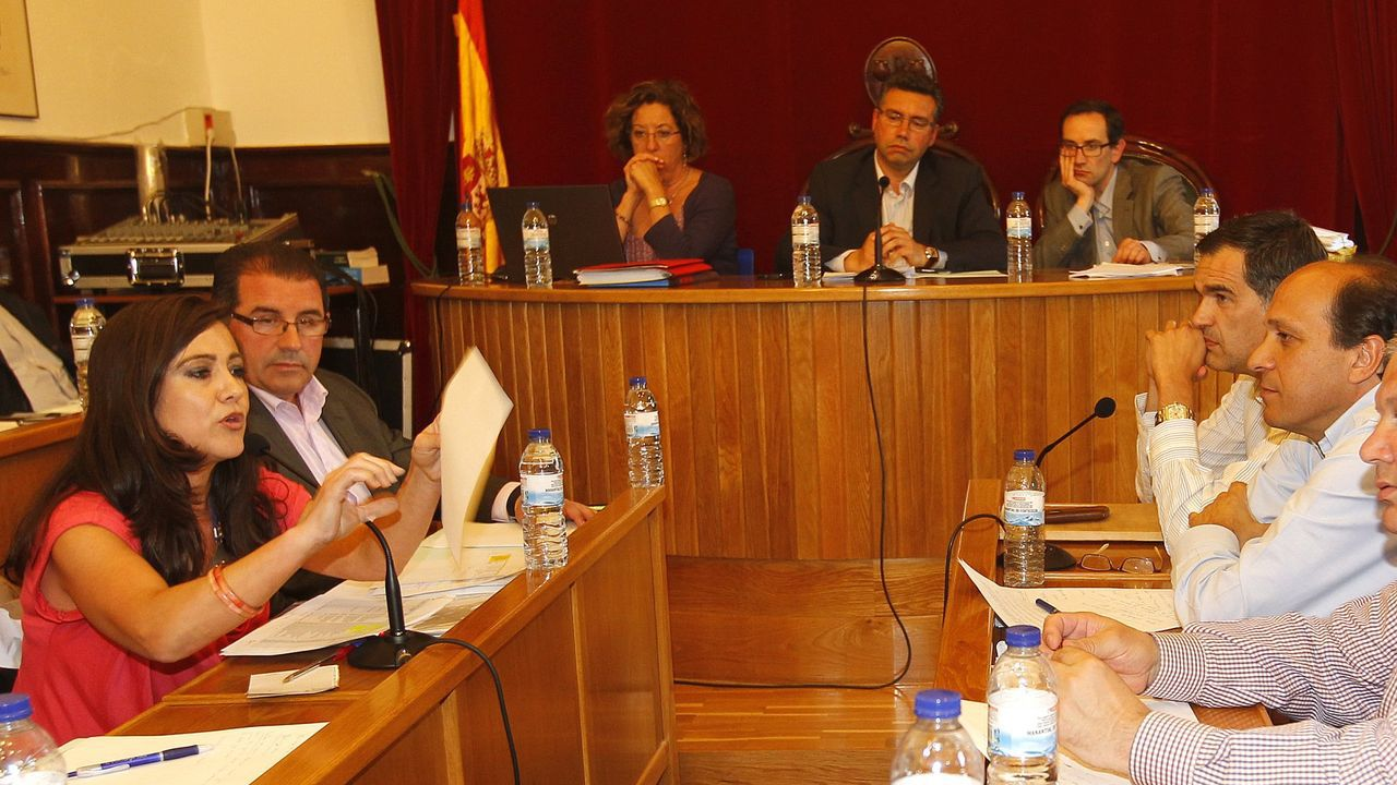 La Comisión Europea denunciará a España por sus altos niveles de contaminación.Ana Alonso interviene en un pleno presidido por Javier Bas