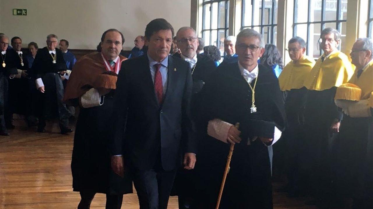 Javier Fernández junto a Santiago García Granda