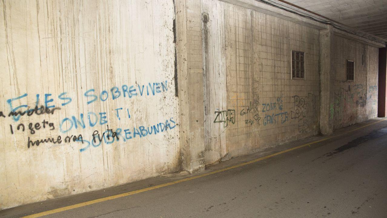 Túnel entre las rúas Manuel María y Vicente Risco