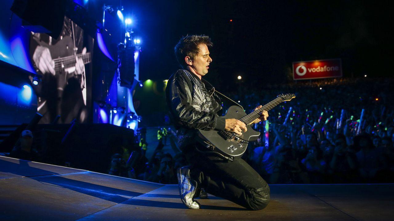 Matthew Bellamy, del grupo británico Muse, como cabeza de cartel del primer día en el Rock in Rio Lisboa