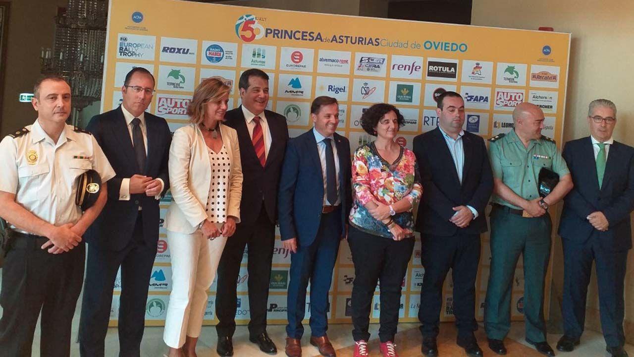 La selección española de baloncesto ya está en España.Presentación del Rallye Princesa de Asturias