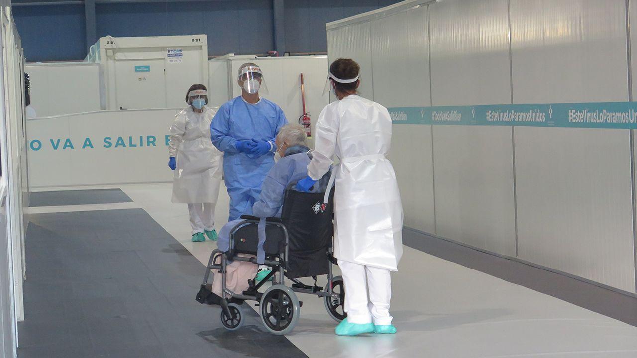 pablo.El hospital provisional H144 recibe al primer paciente
