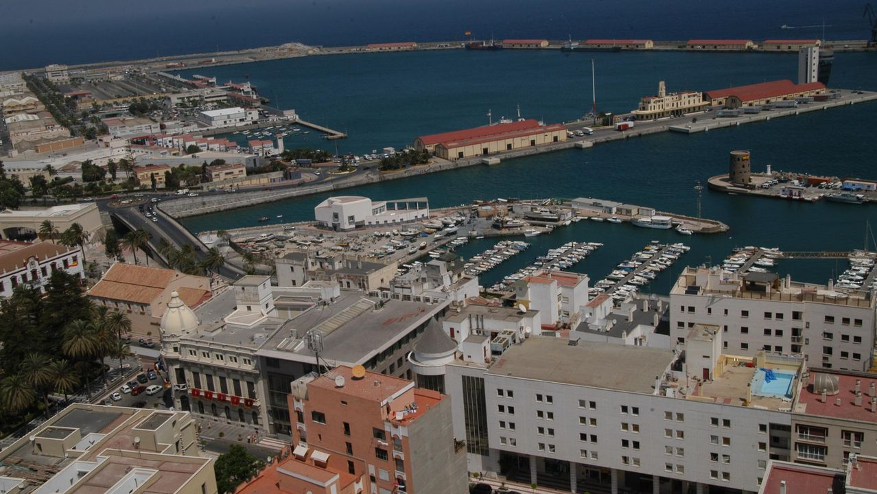 Vista aérea de la ciudad de Ceuta