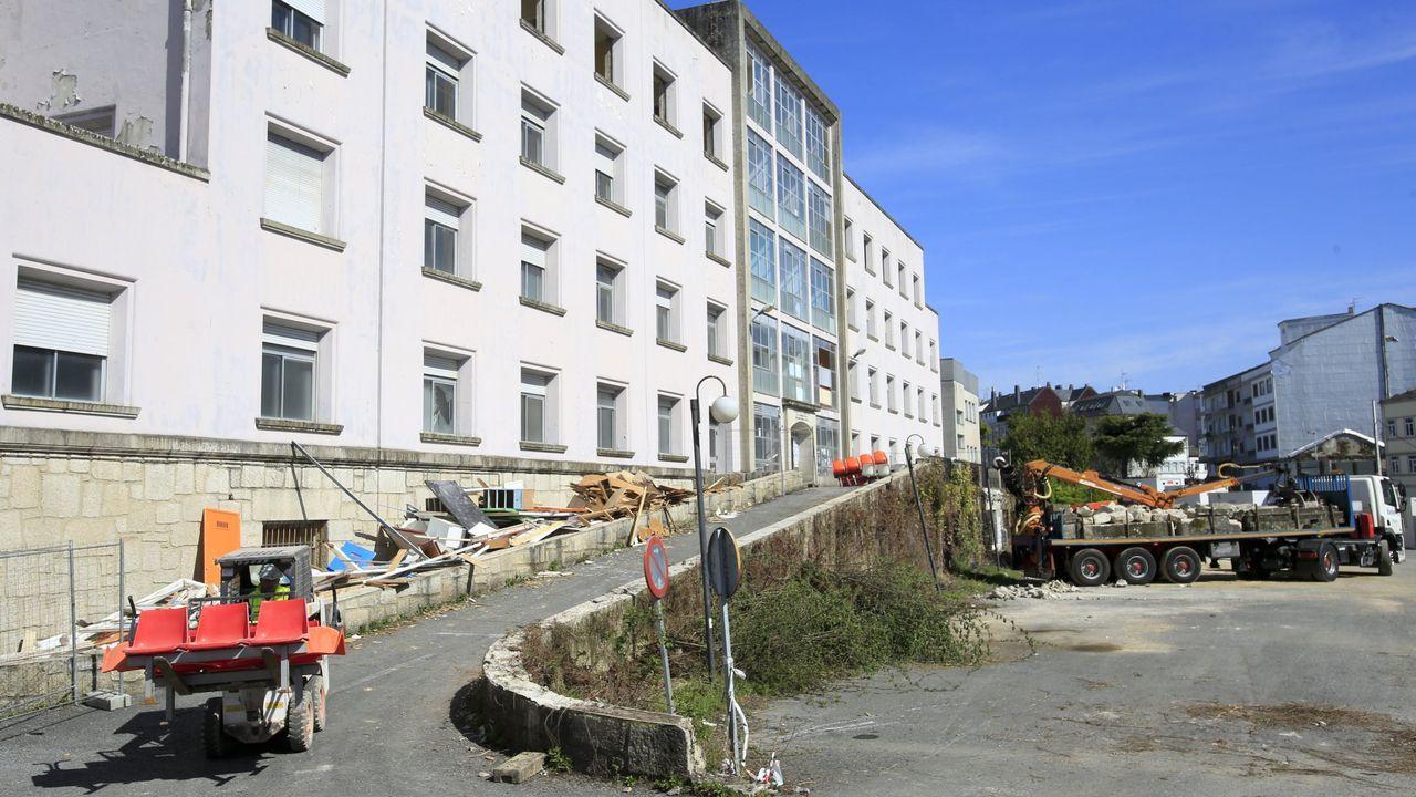 Obras públicas del antiguo Hospital Xeral, donde se construirá el complejo.