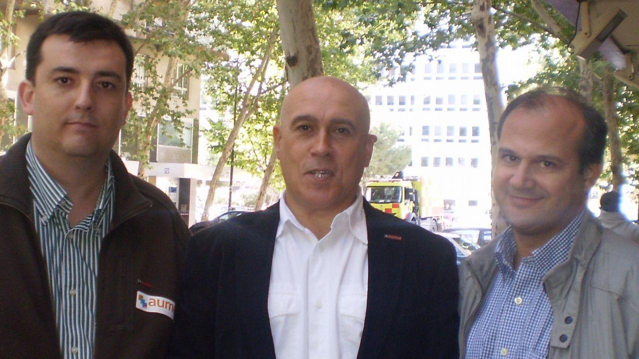 Jorge Bravo, en el centro