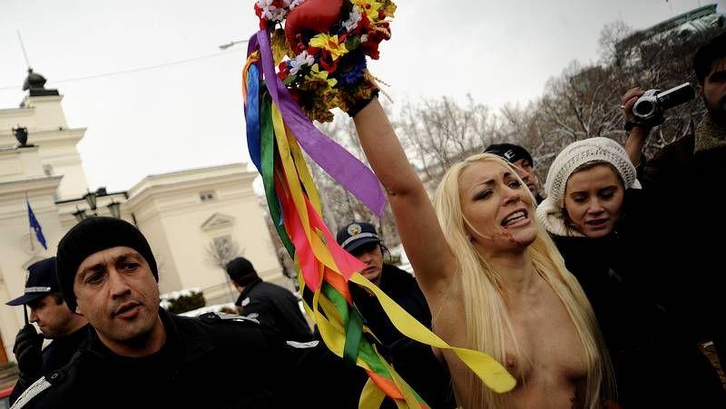 Protesta feminista en Bulgaria