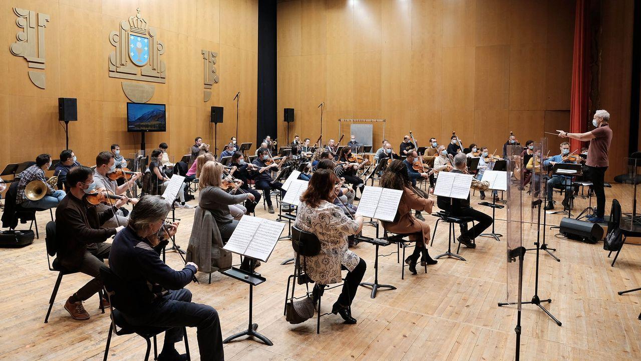 Ensayo de la Filharmonía con Paul Daniel