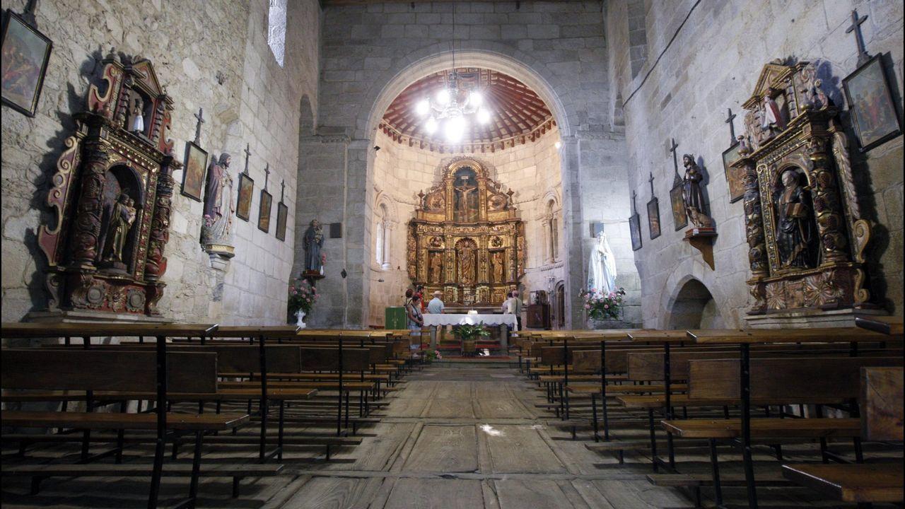 Interior de la iglesia, que en tiempos perteneció al convento de San Salvador de Asma