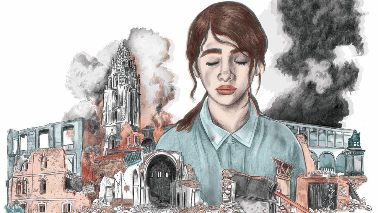 Los mundos de Dolores Medio y Rebeca Menéndez se funden en la nueva edición de «Nosotros, los Rivero».Un momento de la gala de apertura del FICX 55