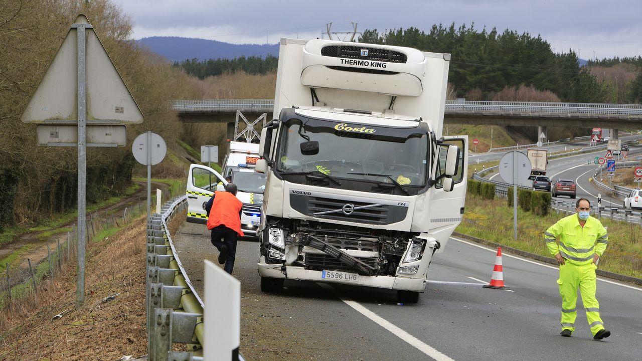 El camión que iba detrás fue el más perjudicado