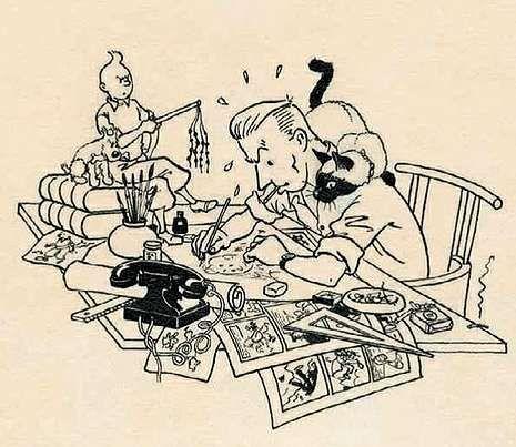 Autorretrato de Hergé.