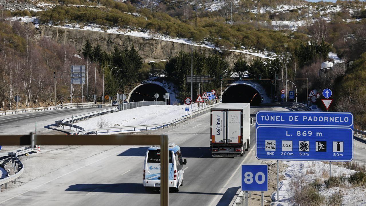 La conexión de Galicia con la meseta en el túnel de O Padornelo, con circulación fluida