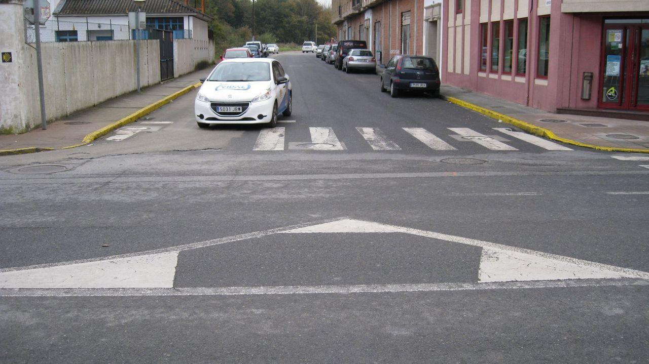 Una de las zonas en las que se colocan los puestos de la Feira de Vilalba