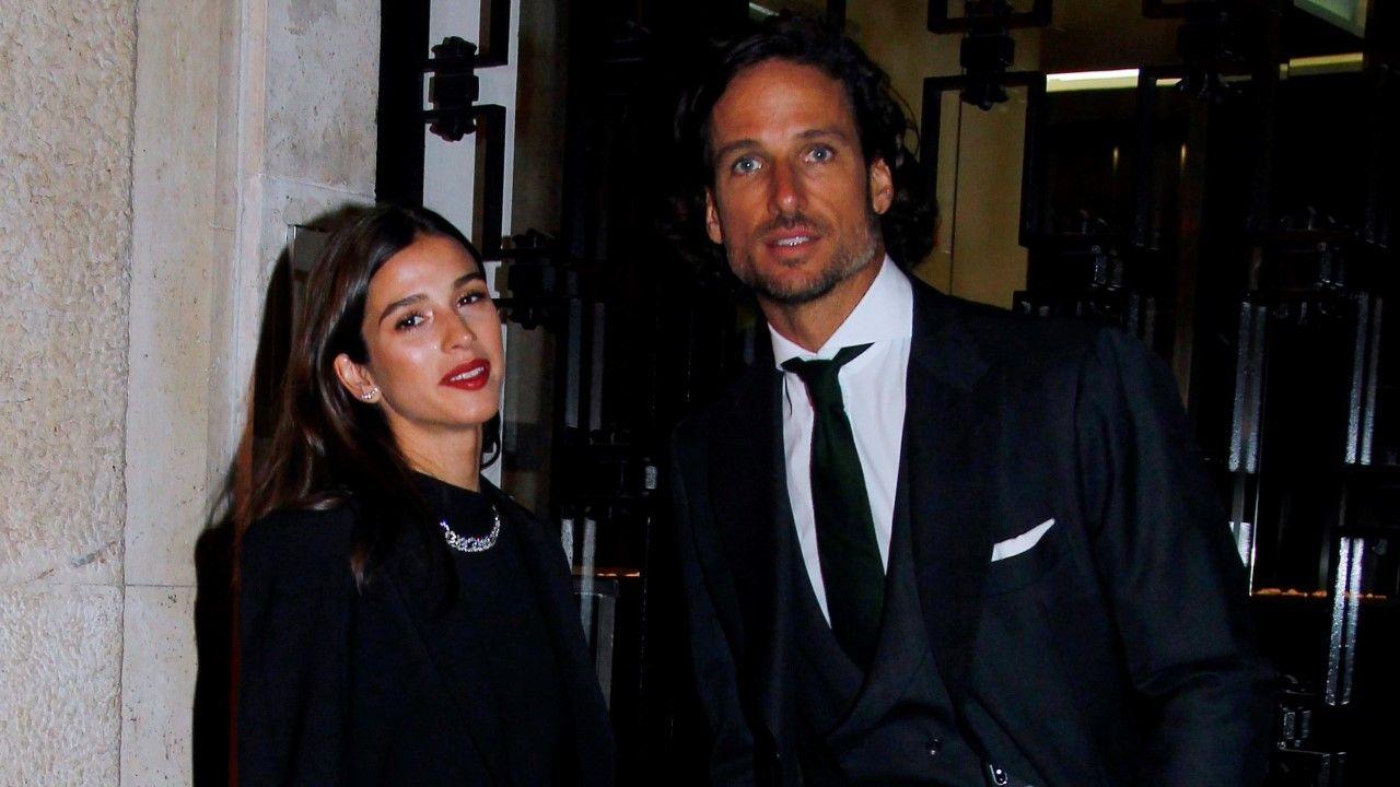 El tenista Feliciano López y Sandra Gago