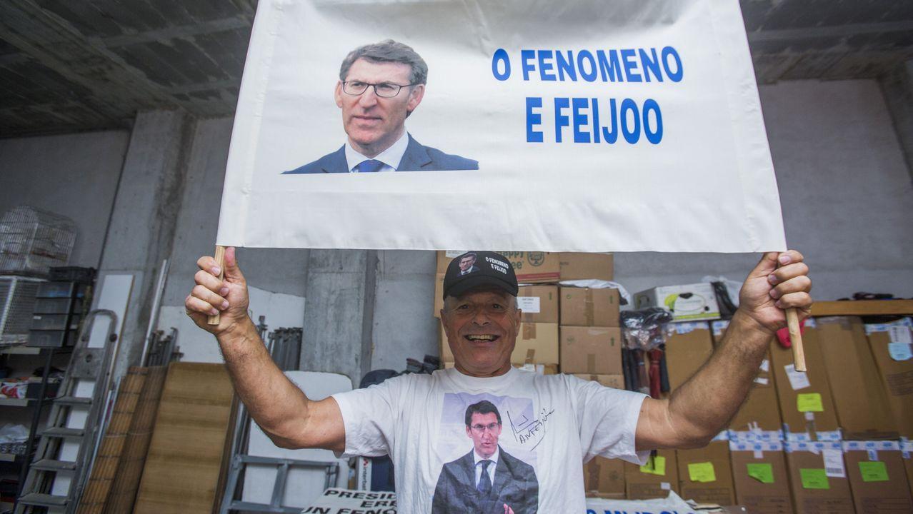 El «fenómeno» que sigue a Feijoo.O BNG celebrou na campaña un acto na Quintana entre medidas de prevención sanitaria contra o covid-19