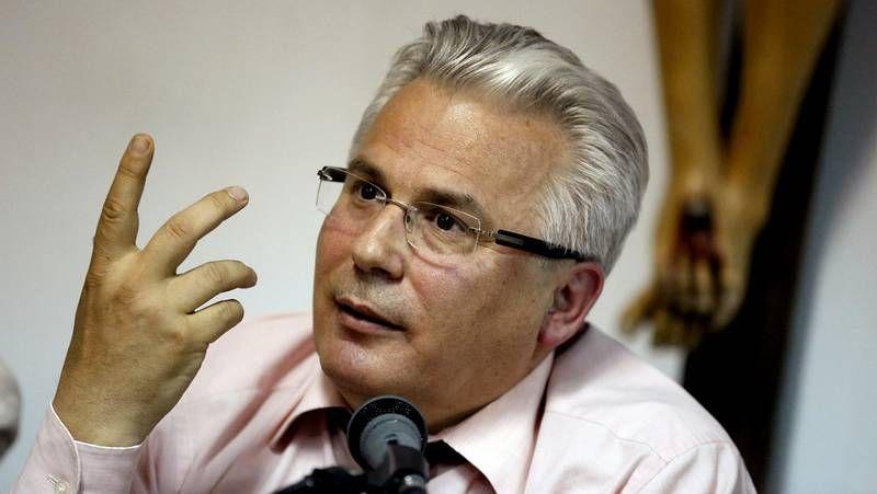Agitada conferencia de Baltasar Garzón.Baltasar Garzón, durante su visita a Santiago.