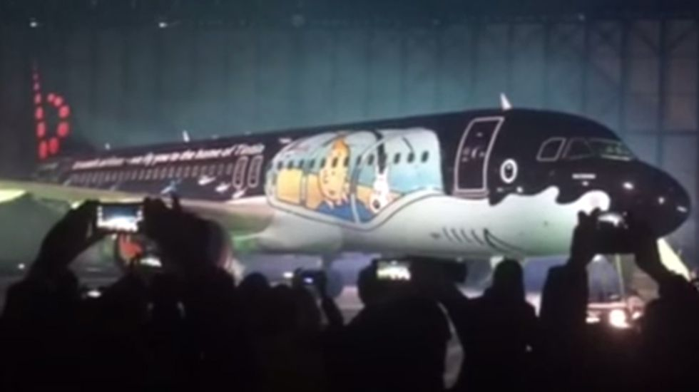 Brussels Airlines presenta su avión homenaje a Tintín