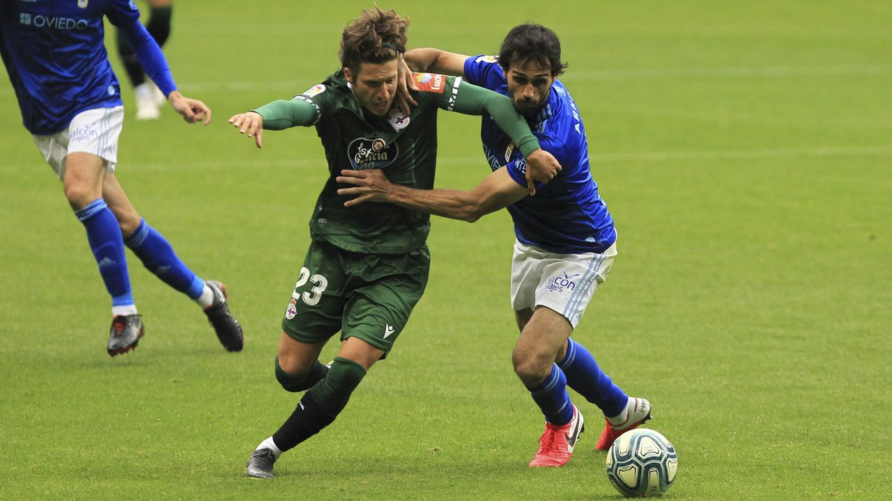 gol Luismi Ortuño Nolaskoain Real Oviedo Deportivo Carlos Tartiere.La entrada de Keko fue uno de los cambios que introdujo Fernando Vázquez en la segunda parte de Oviedo